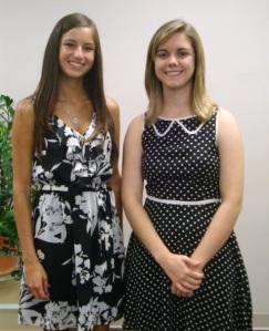 Haley Pelletier and Alexa Jordan, 2013 winners of the Net Atlantic Scholarship Awards